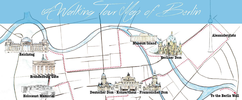 Berlin Ga Kort Kort Over Berlin Til Fods Tyskland