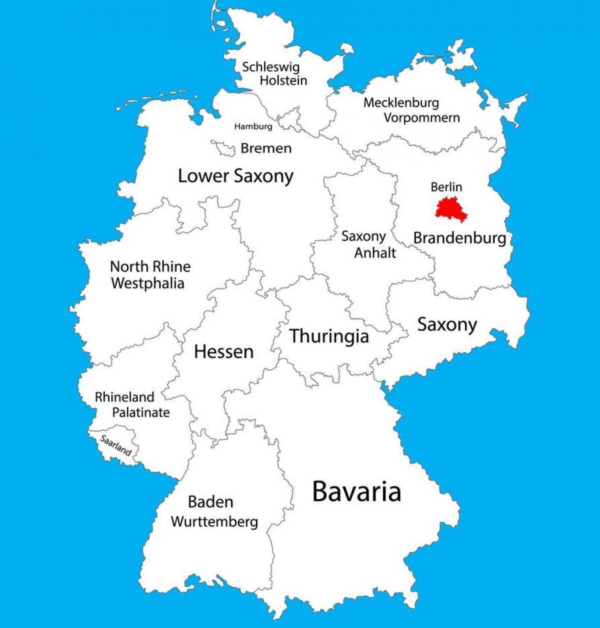 Berlin Tyskland Kort Kort Over Tyskland Der Viser Berlin
