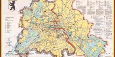 Berlin Kort Kort Berlin Tyskland